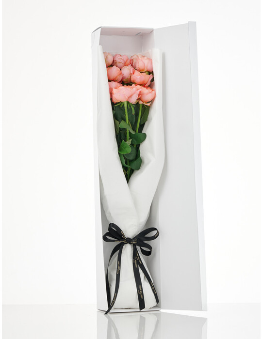 FreshRose Bouquet (Coral Pink) 10本セット