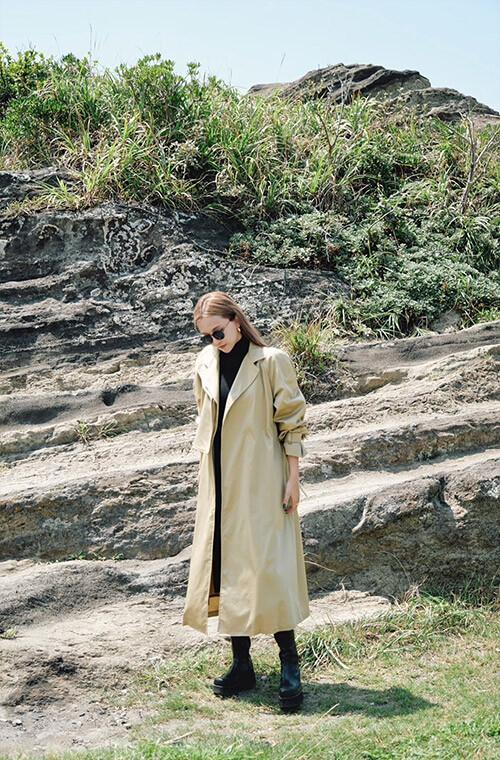 MAVIMOON Trench Coat(BEIGE)