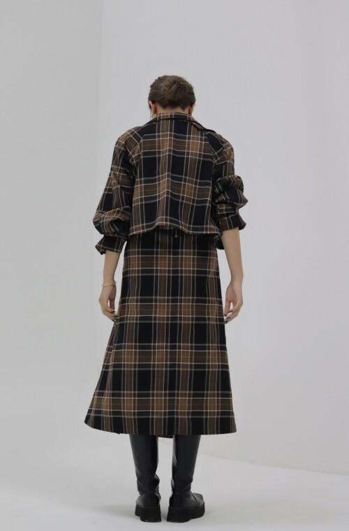 MAVIMOON Trench Coat(BROWN)