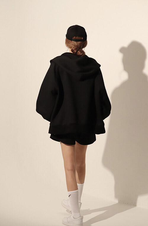 Bonding Sweat Hoodie and Shorts(BLACK)