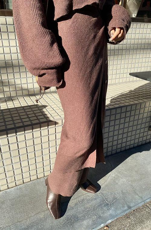 Wrap Skirt Knit Pants