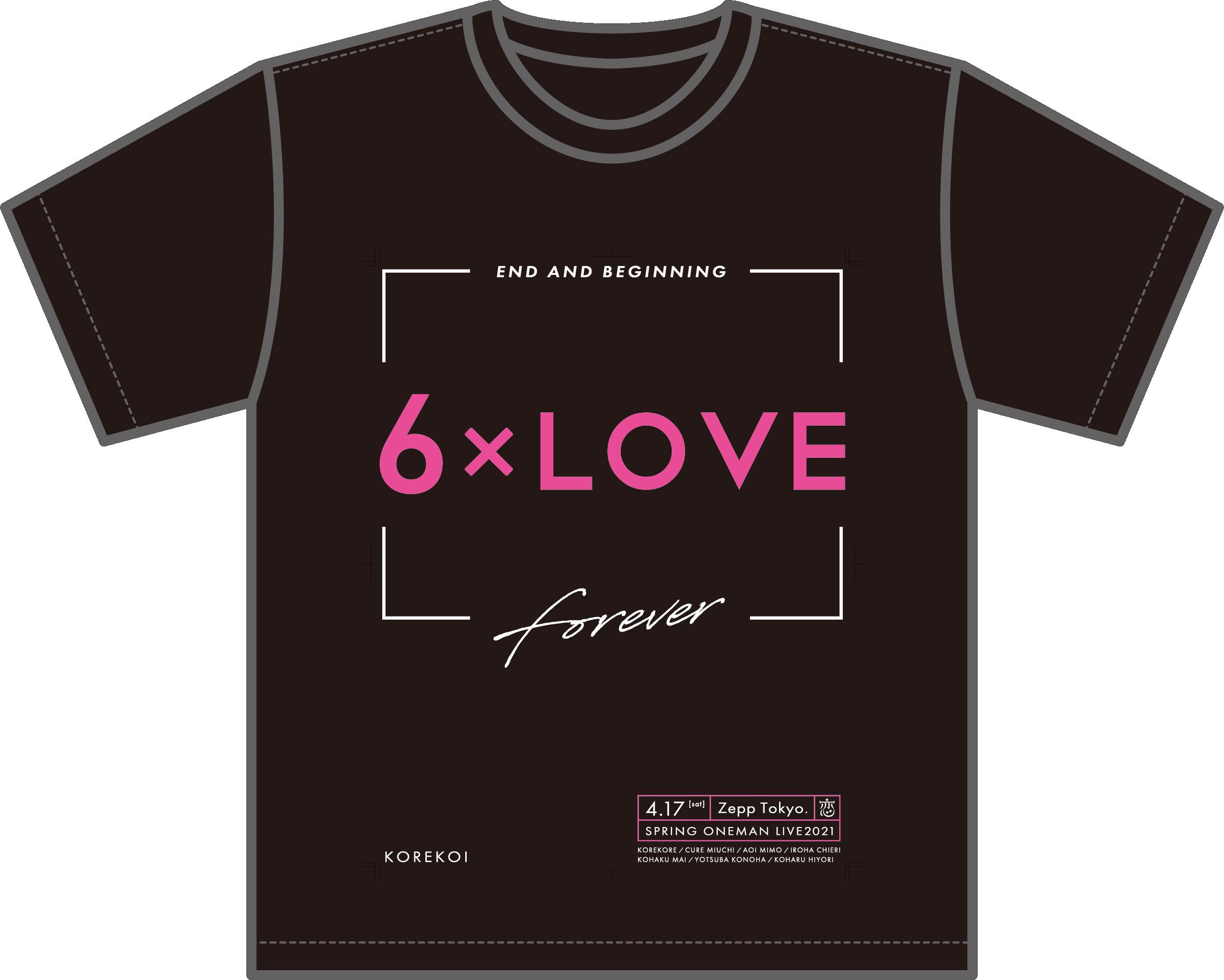 6×LOVE Tシャツ